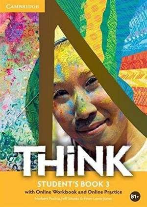 THINK B1+ : udžbenik engleskog jezika  s dodatnim digitalnim sadržajima za prvi ili drugi razred gimnazija i četverogodišnjih strukovnih škola – prvi strani jezik autora Herbert Puchta, Jeff Stranks, Peter Lewis-Jones