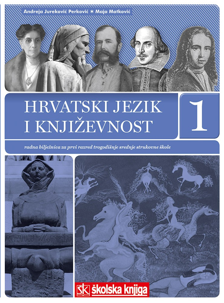 hrvatski jezik i književnost  1 : radna bilježnica za hrvatski jezik i književnost