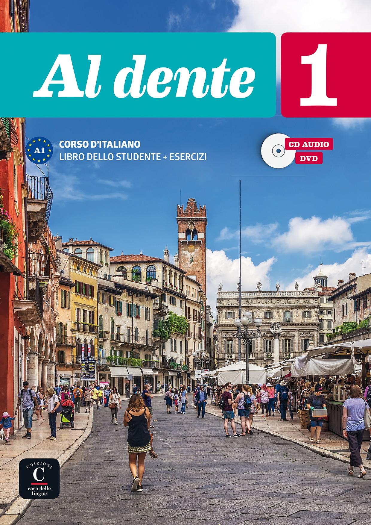 AL DENTE A1 Libro + esercizi+CD+DVD udžbenik i radna bilježnica za talijanski jezik, 1. i/ili 2. razred srednje škole autora Marilisa Birello, Simone Bonafaccia, Andrea Petri, Albert Vilagrasa