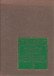 Vlatko Dabac - Tehnički rječnik - hrvatskosrpsko-njemački - 2. dio