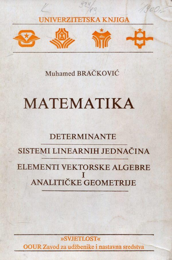 Muhamed Bračković - Matematika