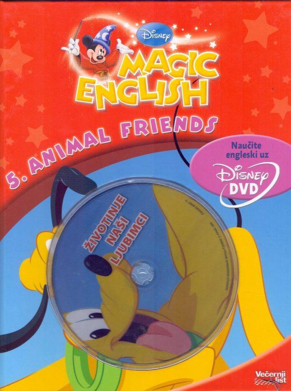 Magic english – 5. animal friends (knjiga + dvd) Isabelle Demolin