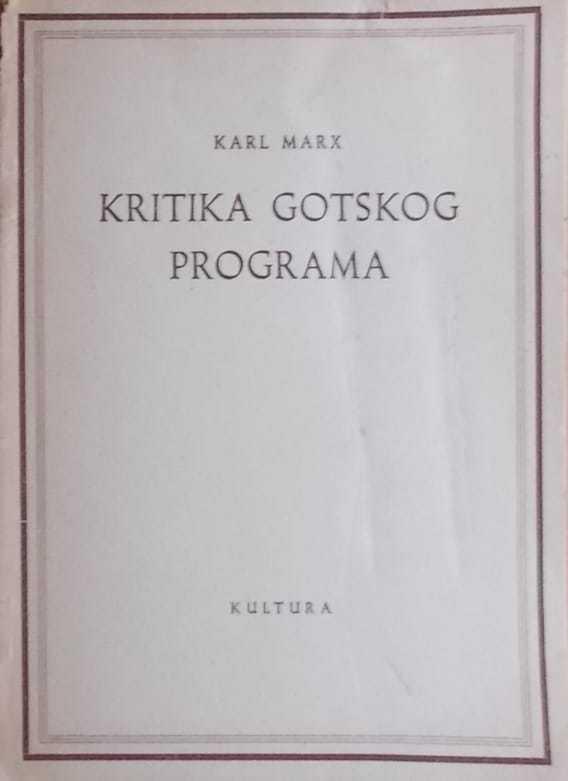 Kritika gotskog programa Karl Marx