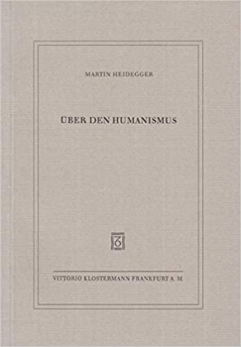 Uber den Humanismus Martin Heidegger