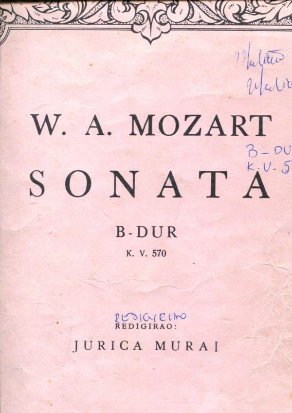 Sonata B-dur, K. V. 570 W. A. Mozart
