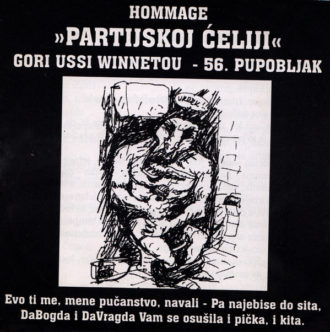"""56. pupobljak - Hommage """"partijskoj ćeliji"""" Gori Ussi Winnetou"""