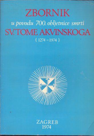 Zbornik u povodu 700. obljetnice smrti sv. Tome Akvinskoga G. a.