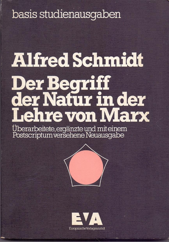 Der Begriff der Natur in der Lehre von Marx Alfred Schmidt