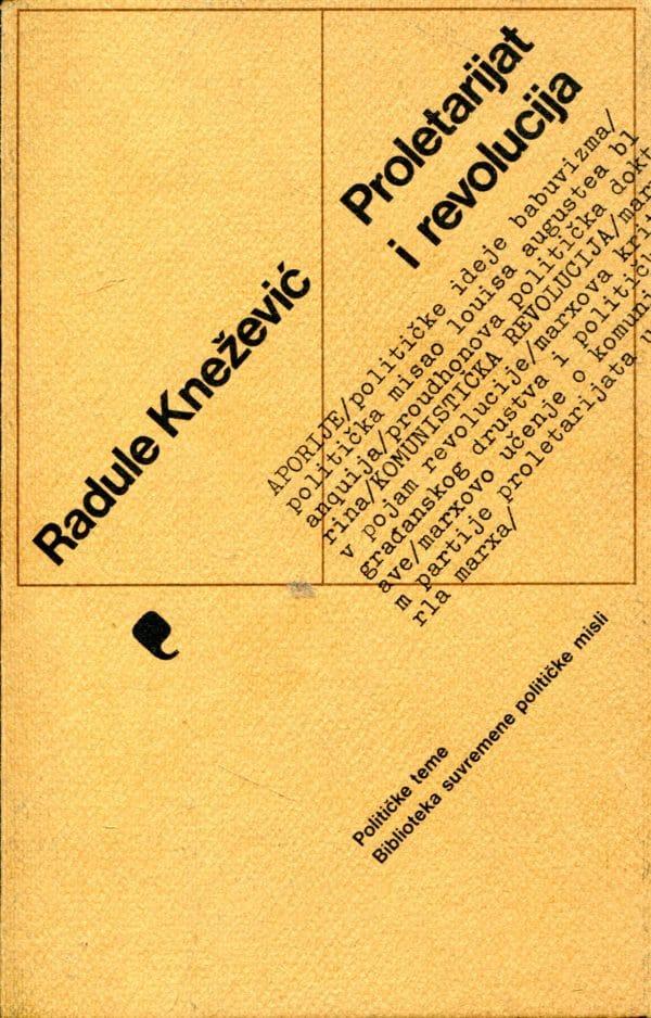 Proletarijat i revolucija Radule Knežević