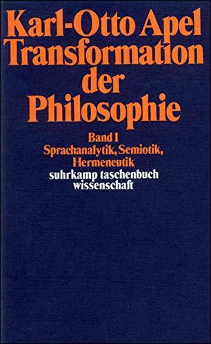 Transformation der Philosophie 1-2 Karl-Otto Apel