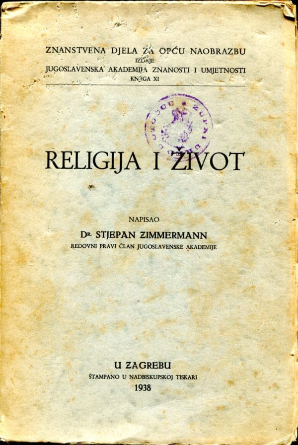 Religija i život Stjepan Zimmermann
