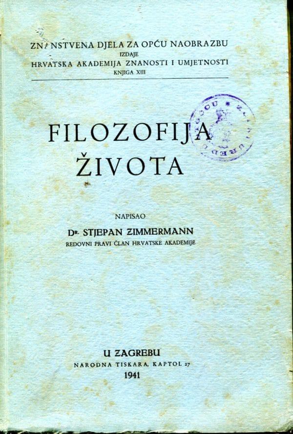 Filozofija života Stjepan Zimmermann