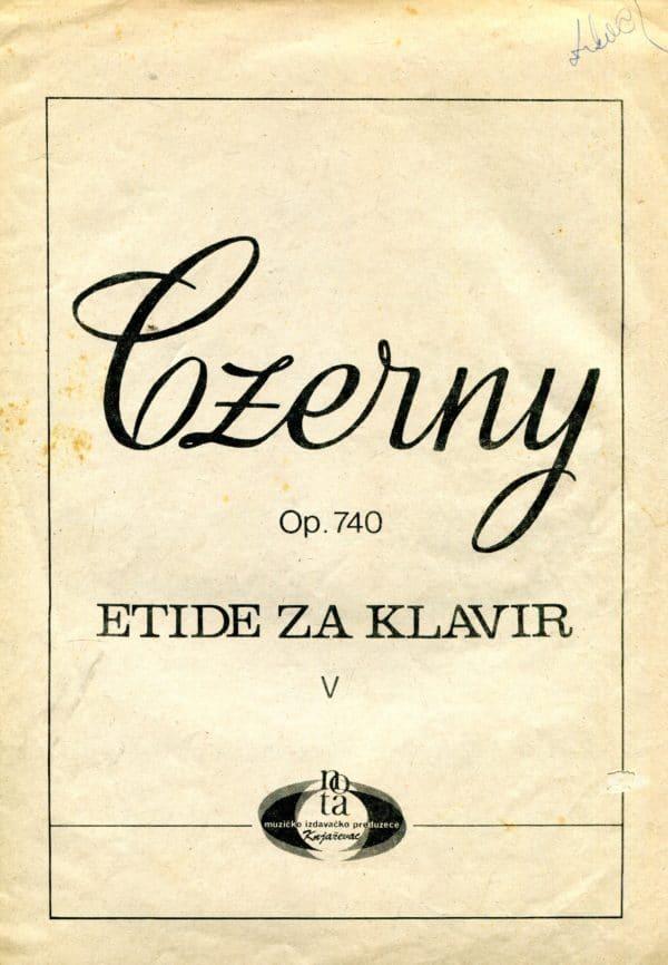 Etide za klavir Carl Czerny