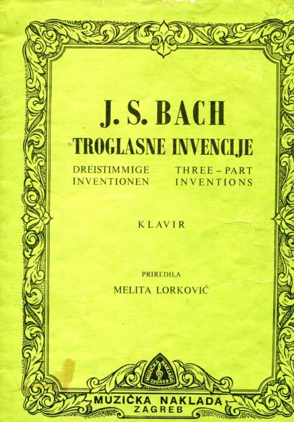 Troglasne invencije Johann Sebastian Bach