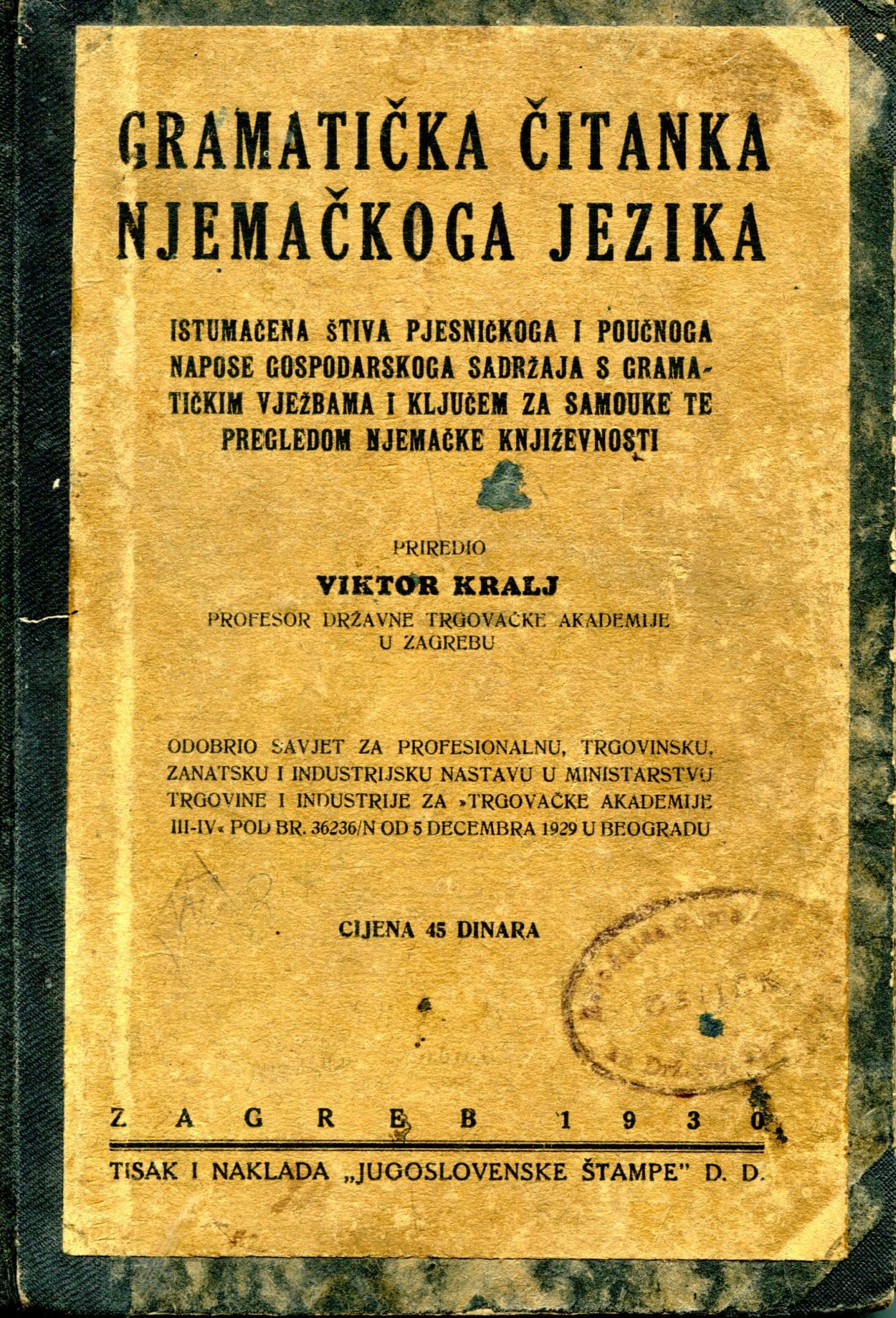 Gramatička čitanka njemačkoga jezika Viktor Kralj
