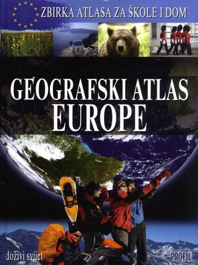 Geografski atlas Europe Drago Glamuzina