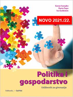 Politika i Gospodarstvo Udžbenik za gimnazije autora Goran, Sunajko, Dario Čepo, Ivo Goldstein